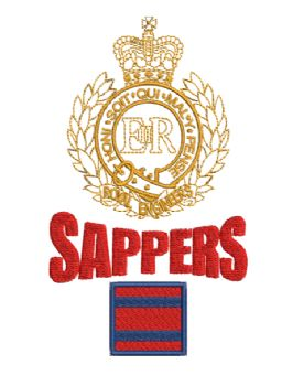 RE/TRF/SAPPERS embroidered Tshirt